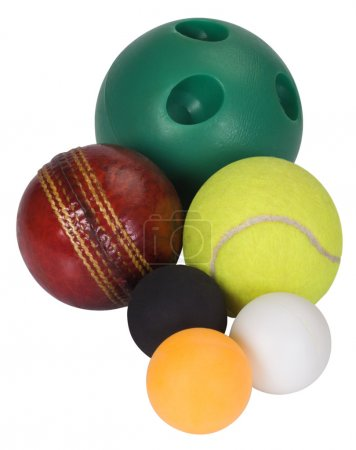 Close-up of assorted balls