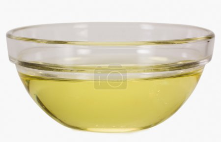 Cooking oil in a bowl