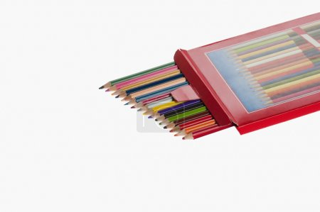 Foto de El cierre de lápices de colores - Imagen libre de derechos