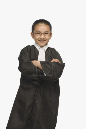 Girl dressed as a lawyer