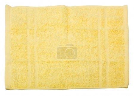 Photo pour Gros plan d'une serviette jaune - image libre de droit