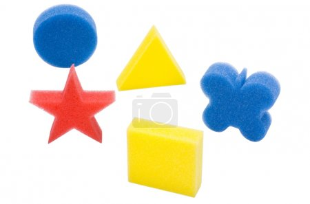 Photo for Close-up of assorted bath sponges - Royalty Free Image