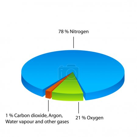 Air composition pie chart