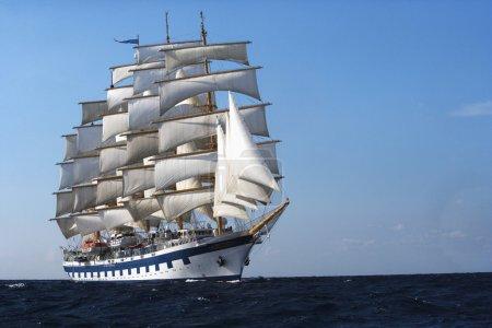Clipper ship in the sea
