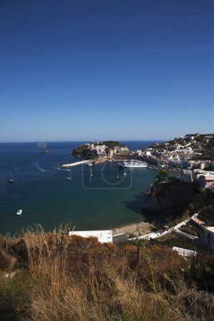 Photo for Buildings on an island, Ponza, Tyrrhenian Sea, Province Of Latina, Lazio, Italy - Royalty Free Image