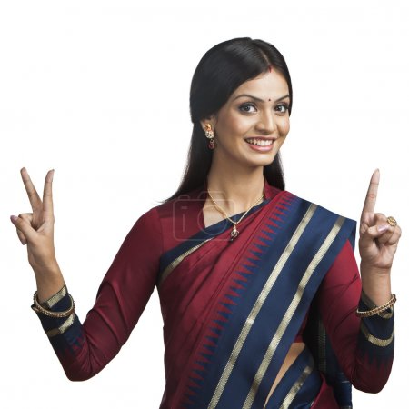 Indian woman gesturing