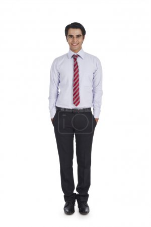 Businessman with his hands in pockets