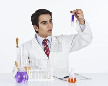 Scientist doing scientific experiment