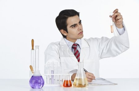 Scientist doing scientific experiment