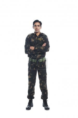 Photo for Portrait of an army soldier standing with his arms crossed - Royalty Free Image