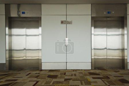 Elevators at an airport