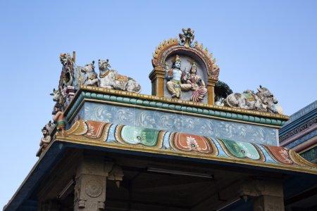 Foto de Detalle arquitectónico del templo de kapaleeshwarar, mylapore, chennai, tamil nadu, india - Imagen libre de derechos