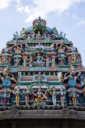Architectural detail of Kapaleeshwarar Temple