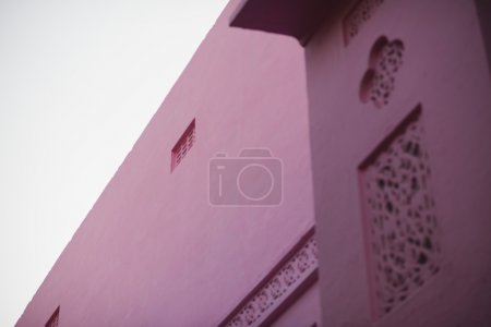 Photo for Low angle view of a pink building, Pushkar, Ajmer, Rajasthan, India - Royalty Free Image