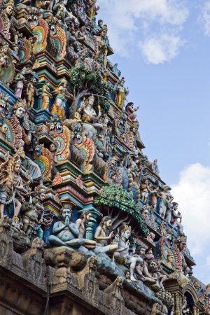 Architectural detail of Kapaleeshwarar Temple
