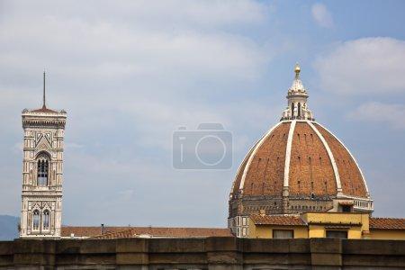Campanile Di Giotto with Duomo Santa Maria Del Fiore
