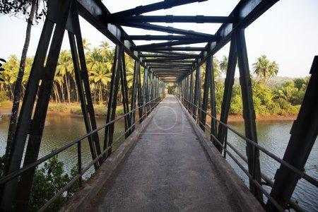 Photo for Bridge across a river, Goa, India - Royalty Free Image