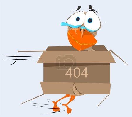Illustration for Illustrative representation of Quack with 404 error message - Royalty Free Image