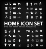 Vector Illustration of home icons set