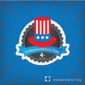 Vector Illustration of July 4th and Patriotic Symbol