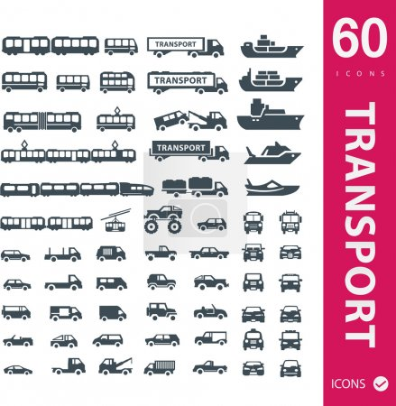 Vector illustration of transport icons