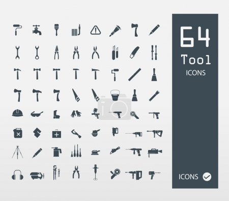 Illustration for Tool icon set ( Set of 64 Quality icons ) - Royalty Free Image
