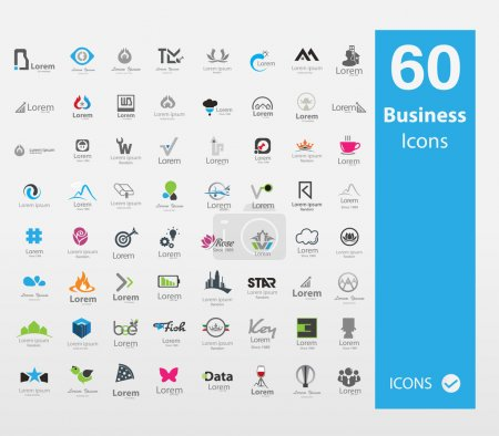 Illustration pour Ensemble d'icônes affaires utilisable - image libre de droit