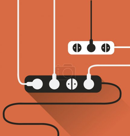Orange Power outlet icon