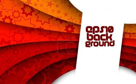 Illustration pour Fond rouge abstrait avec étoiles - image libre de droit