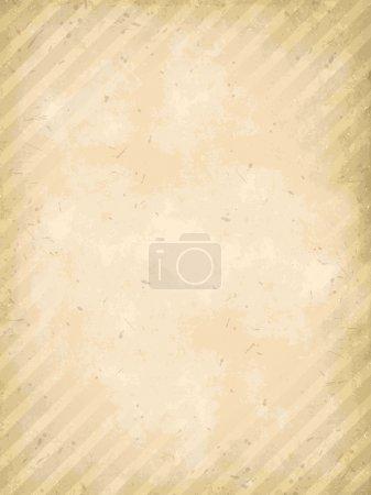Illustration pour Vecteur vieux papier grunge avec motif rayures - image libre de droit