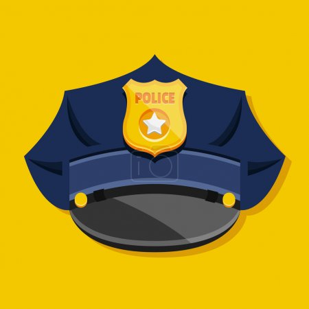 Illustration for Vector Police Hat - Royalty Free Image