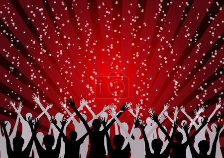 Illustration pour Célébrez bonne année et joyeux Noël - image libre de droit