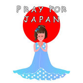 Help and Pray for Japan - vector
