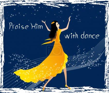 Illustration pour Louez le Seigneur avec une illustration vectorielle de danse - image libre de droit
