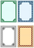 Frame for design of certificates and diplomas