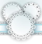 Set of napkin elegant design elements lace  Vector illustration EPS 10