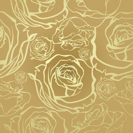 seamless golden roses