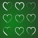 Постер, плакат: set of hearts