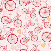 Seamless bicycles pattern