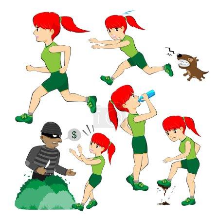 Girl Jogging Set