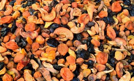 Photo pour Divers fruits secs pour le fond de compote - image libre de droit