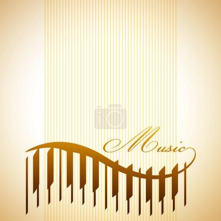 Photo pour Fond abstrait avec le piano - image libre de droit