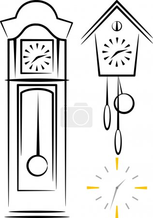 Illustration with clocks