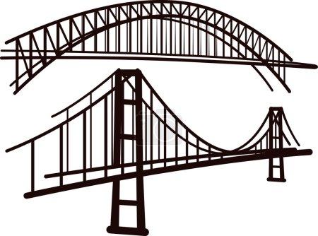 Photo pour Ensemble de ponts - image libre de droit