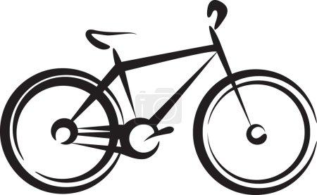 Illustration with a bike symbol...
