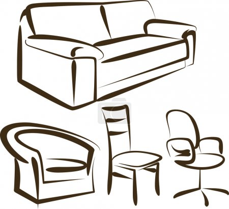 Set of different kinds of sittings
