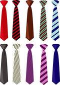 Men colored neckties vector illustration