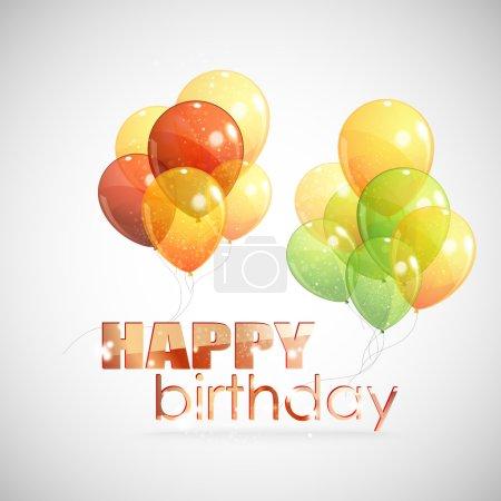 Illustration pour Joyeux anniversaire. fond avec des ballons colorés - image libre de droit