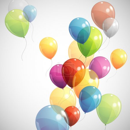 Illustration for Background with multicolored balloons - Royalty Free Image