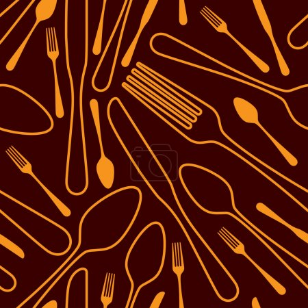Illustration for Seamless silverware background - Royalty Free Image